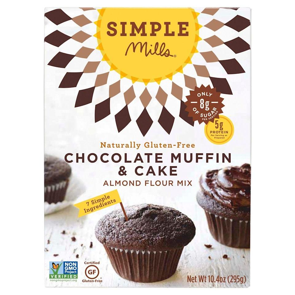 """<p><a class=""""link rapid-noclick-resp"""" href=""""https://www.target.com/p/simple-mills-174-chocolate-muffin-cake-almond-flour-mix-10-4oz/-/A-50334993"""" rel=""""nofollow noopener"""" target=""""_blank"""" data-ylk=""""slk:BUY NOW"""">BUY NOW</a> <strong><em>$7, target.com</em></strong></p><p>This mix is usually sold at health foods stores, so to find it at Target — well, people are FREAKING.</p>"""