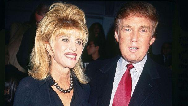 PHOTO: Ivana and Donald Trump pose together at the Betsey Johnson fashion show in Bryant Park, New York City, circa 1997. (Rose Hartman/Getty Images)