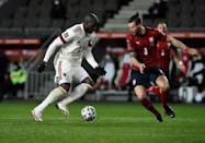 Romelu Lukaku, left, scored an equaliser but Belgium were held by the Czech Republic