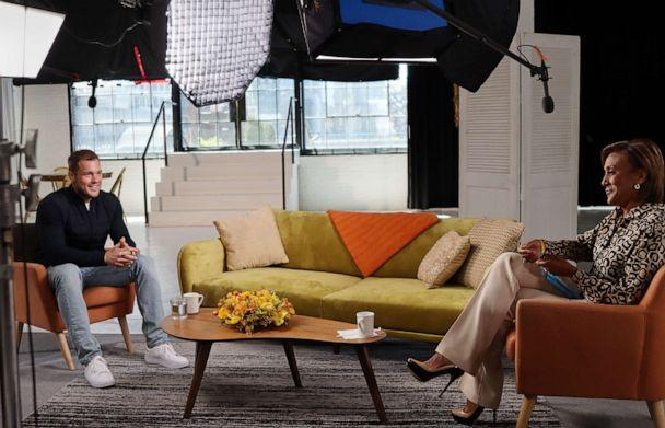 PHOTO: ABC's Robin Roberts with Colton Underwood, the lead of the 23rd season of 'The Bachelor,' during an interview in April 2021. (ABC)