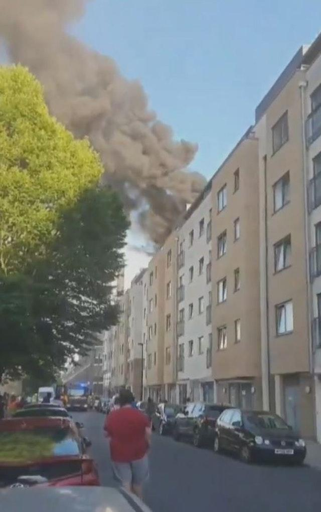 South-east London tower-block blaze brought under control