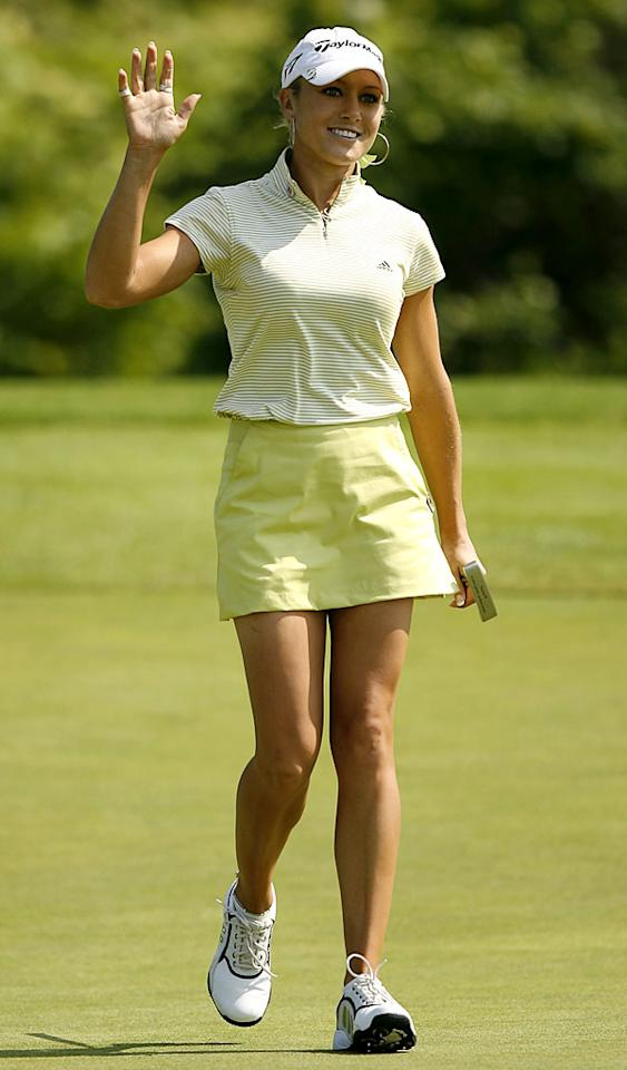 """Green is a pretty hard color to coordinate, but Natalie Gulbis makes it work. Mike Ehrmann/<a href=""""http://www.wireimage.com"""" target=""""new"""">WireImage.com</a> - July 1, 2006"""