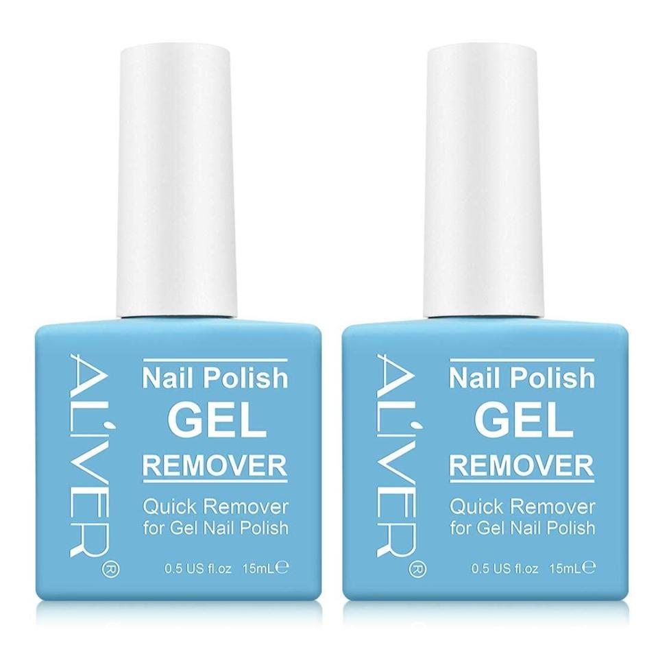 <p>Get a double dose of <span>Aliver Gel Nail Polish Remover</span> ($10) on Amazon, because two bottles is better than one.</p>