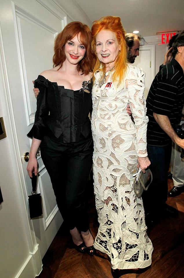 """""""Mad Men"""" star Christina Hendricks joined fellow redhead Vivienne Westwood at the opening of the designer's first store in the United States on West Hollywood's fabled Melrose Avenue. Donato Sardella/<a href=""""http://www.wireimage.com"""" target=""""new"""">WireImage.com</a> - March 30, 2011"""