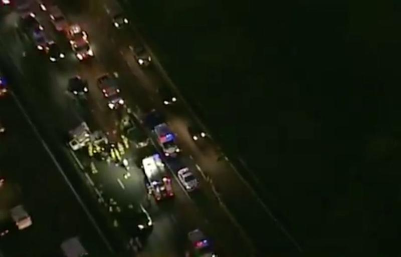 A person has died after a crash on Sydney's M4 Thursday morning. Source: Nine News
