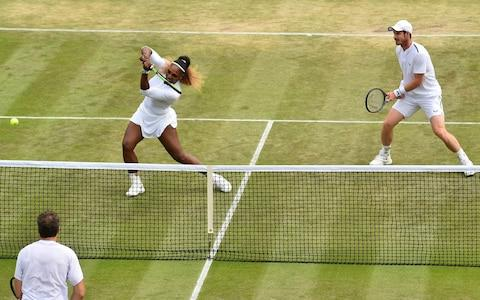 Britain's Andy Murray (R) and US player Serena Williams - Credit: AFP