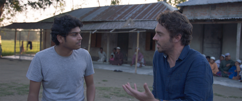 "Decentralized energy access specialist Neelam Tahame, left, and filmmaker Damon Gameau in the documentary ""2040."""