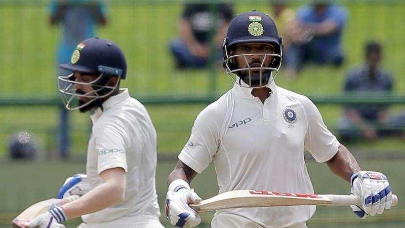 Shikhar Dhawan and KL Rahul gave India the perfect start. India continued their dominance over Sri Lanka in the ongoing 3-match Test series. After winning the toss for the third time in a row, the Indian captain, Virat Kohli opted to bat for the third successive time.The Indian openers, Shikhar Dhawan and KL Rahul, continued their fine form and gave India the perfect start to the Test with Dhawan scoring the bulk of the runs. However, India then lost quick wickets, ending the day's play at 329 for the loss of six wickets.For Sri Lanka, Lakshan Sandakan, the left arm chinaman, andMalinda Pushpakumara were the stars of the day. The duo picked up five of the six wickets that fell.The strong fightback from the hosts has set up the game nicely, unlike the previous games where the Indian middle order batsmen struck big partnerships.For the visitors, there was only one change. Kuldeep Yadav was roped into the side replacing Ravindra Jadeja, who was suspended. On the other hand, the hosts were forced to make two changes as their two premium bowlers, Nuwan Pradeep and Rangana Herath, were out due to injuries.Here are five talking points from the day's play.                          Sri Lanka fought back really well in the post-lunch sessionThings didn't look good for the hosts after Dhawan scored a quickfire hundred as the southpaw looked ominous at the crease. With KL Rahul too scoring at an impressive rate, a big first innings total looked certain.However, after putting up a record opening stand, both the Indian openers got out in quick succession. While Rahul was dismissed looking to clear the mid on fielder, Dhawan swept one too many and mistimed it to the square-leg fielder.Chateshwar Pujara, who has had a tremendous tour so far, too had a rare failure. The reliable batsman didn't look comfortable against the spinners and was dismissed after scoring only 8 off 33 balls.Virat Kohli batted patiently for his 42 runs but couldn't convert the start into a big one. Ajinkya Ra