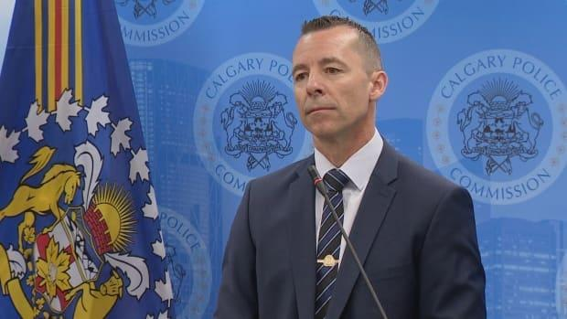 Calgary police Chief Mark Neufeld says the funding will help citizens and relieve pressure on officers.  (Justin Pennell/CBC - image credit)