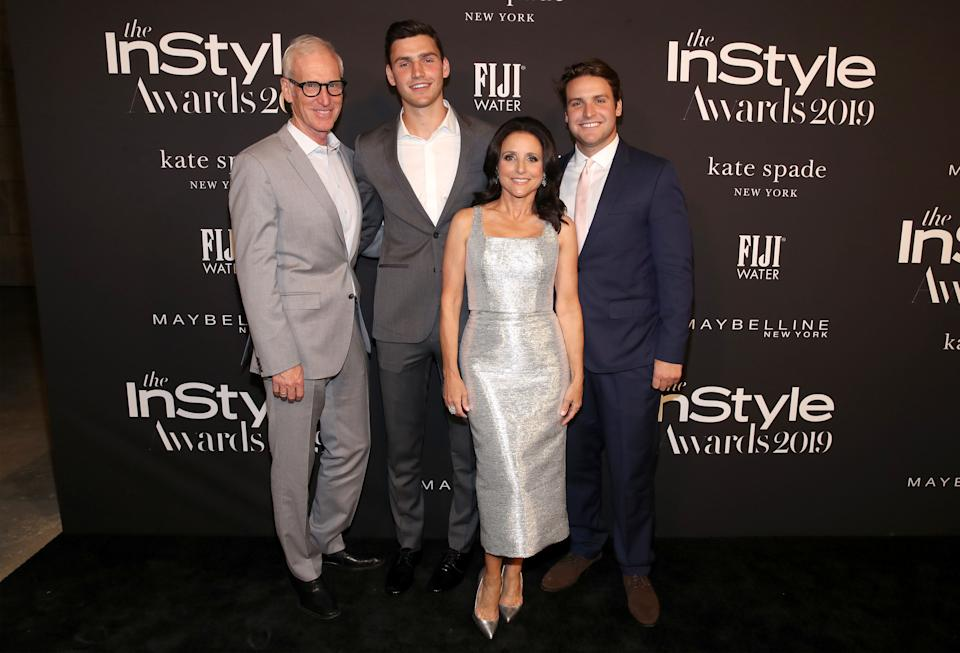 Brad Hall, Charlie Hall, Julia Louis-Dreyfus, and Henry Hall attend the Fifth Annual InStyle Awards at The Getty Center on Oct. 21, 2019, in Los Angeles. (Photo: Randy Shropshire via Getty Images)