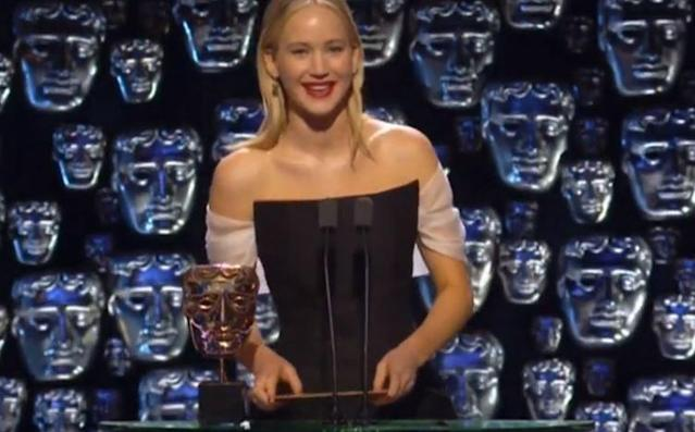 Jennifer Lawrence was criticised for her response to Joanna Lumley during the BAFTAs