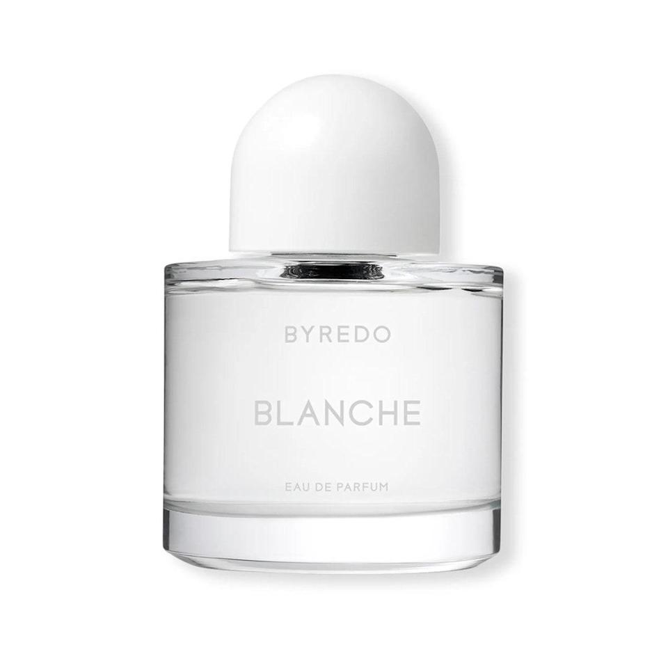 """I've loved Byredo forever, but have yet to find one of the brand's fragrances that truly feels like me—until now. Blanche is light and clean, yet like nothing I've ever smelled before: It smells like sunshine, sweaty skin, clean laundry, and a hint of powder. The new special-edition bottle makes the whole thing feel even more special. <em>—B.C.</em> $290, Neiman Marcus. <a href=""""https://www.neimanmarcus.com/p/byredo-3-3-oz-blanche-eau-de-parfum-collectors-edition-prod244350161?"""" rel=""""nofollow noopener"""" target=""""_blank"""" data-ylk=""""slk:Get it now!"""" class=""""link rapid-noclick-resp"""">Get it now!</a>"""
