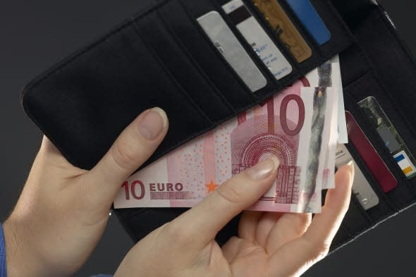 Billfold with euros