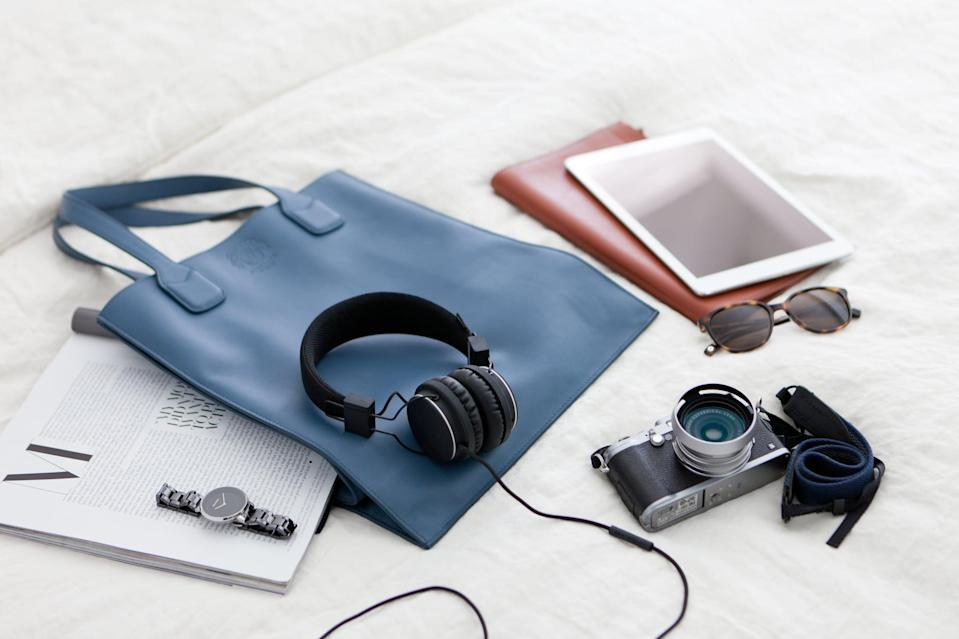 """<p>Don't forget to pack headphones for watching movies, listening to music, and blocking out <a href=""""https://www.popsugar.com/smart-living/Airline-Travel-Donts-39493427"""" class=""""link rapid-noclick-resp"""" rel=""""nofollow noopener"""" target=""""_blank"""" data-ylk=""""slk:the general noise of the airplane"""">the general noise of the airplane</a>. If you forget them, you can buy them at the airport or on the flight, but they're not cheap. </p>"""