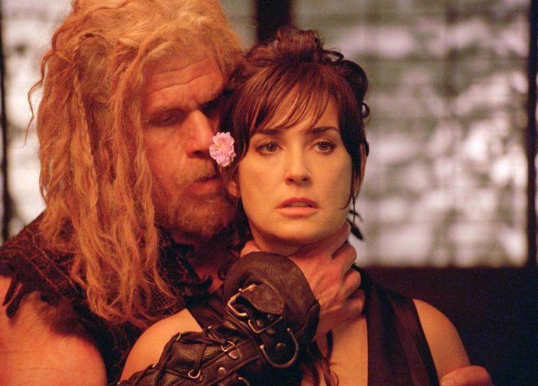 Ron Perlman and Demi Moore in Bunraku. (ARC Entertainment)