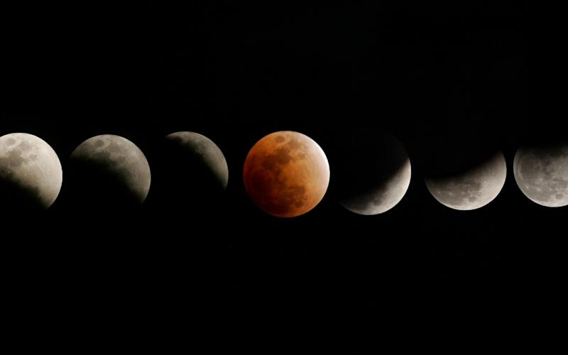 Images of a total lunar eclipse which took place in December 2010 - AFP
