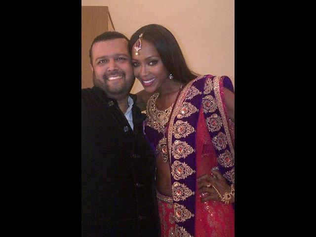 <b>3. Naomi Campbell<br></b><p>  	British supermodel Naomi Campbell in a lehenga-choli desgined by Manav  Gangwani. She turned desi for her boyfriend Vladimir Doronin's 50th  birthday celebration in Jodhpur, Rajasthan.</p>