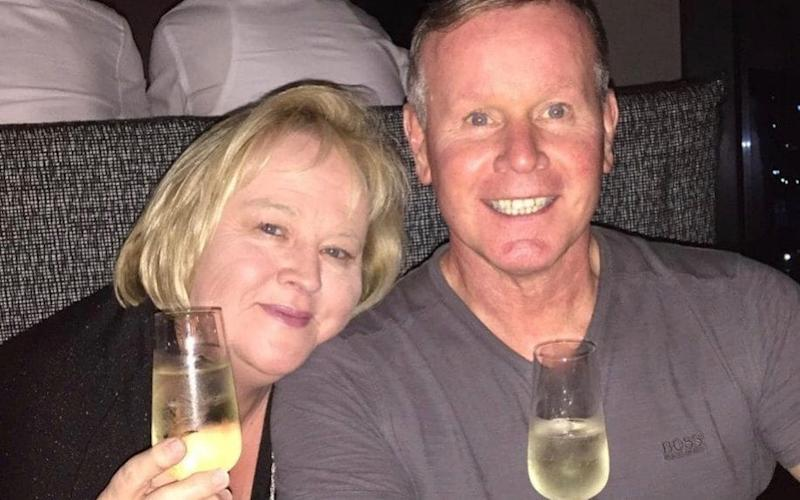 Lorraine Campbell, pictured with husband Neil, was staying at the Cinnamon Grand Hotel when she was killed by a bomb attack in Sri Lanka - PA