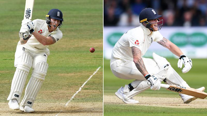 Ben Stokes was hit in the private parts on day five.