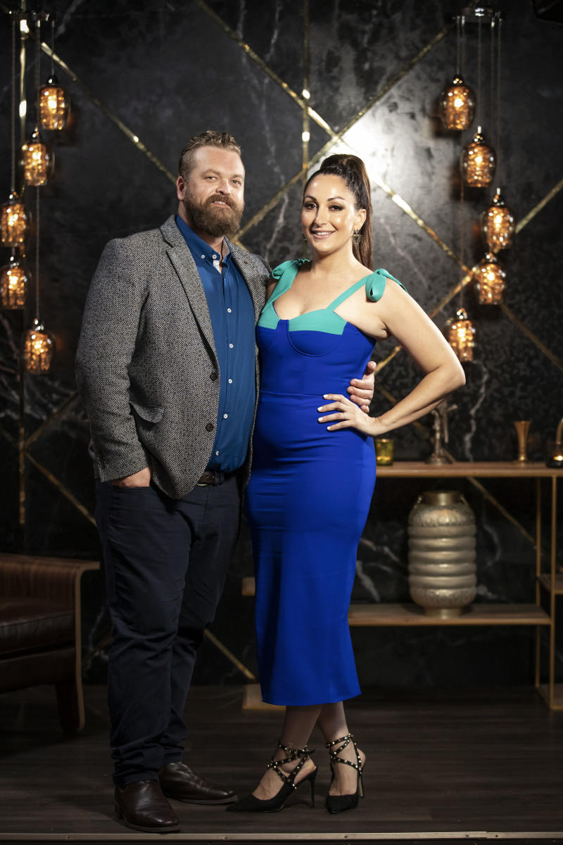 Married At First Sight's Luke and Poppy pose together