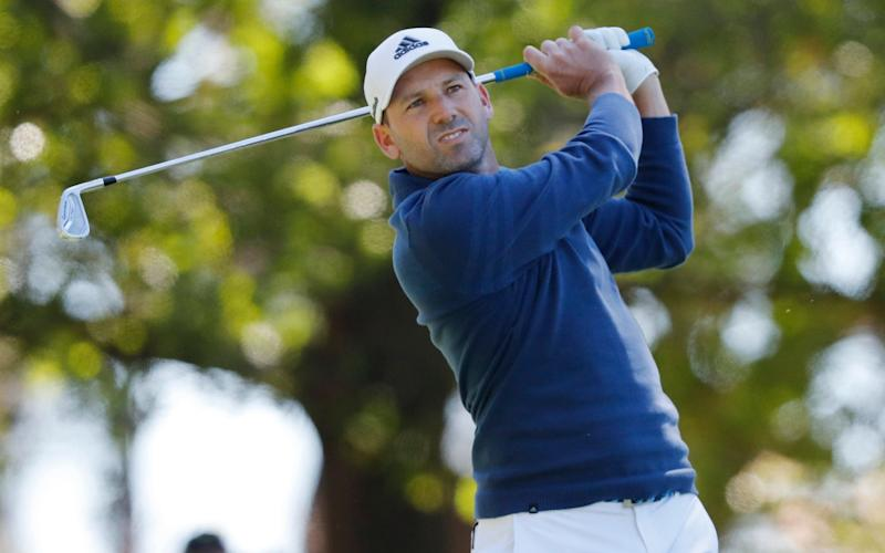 Sergio Garcia was three under on the front nine - Credit: EPA