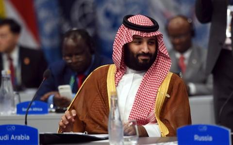 Saudi Arabia's Crown Prince Mohammed bin Salman attends a plenary session on the second day of the G20 Leader's Summit in Buenos Aires, Argentina. - Credit: Handout