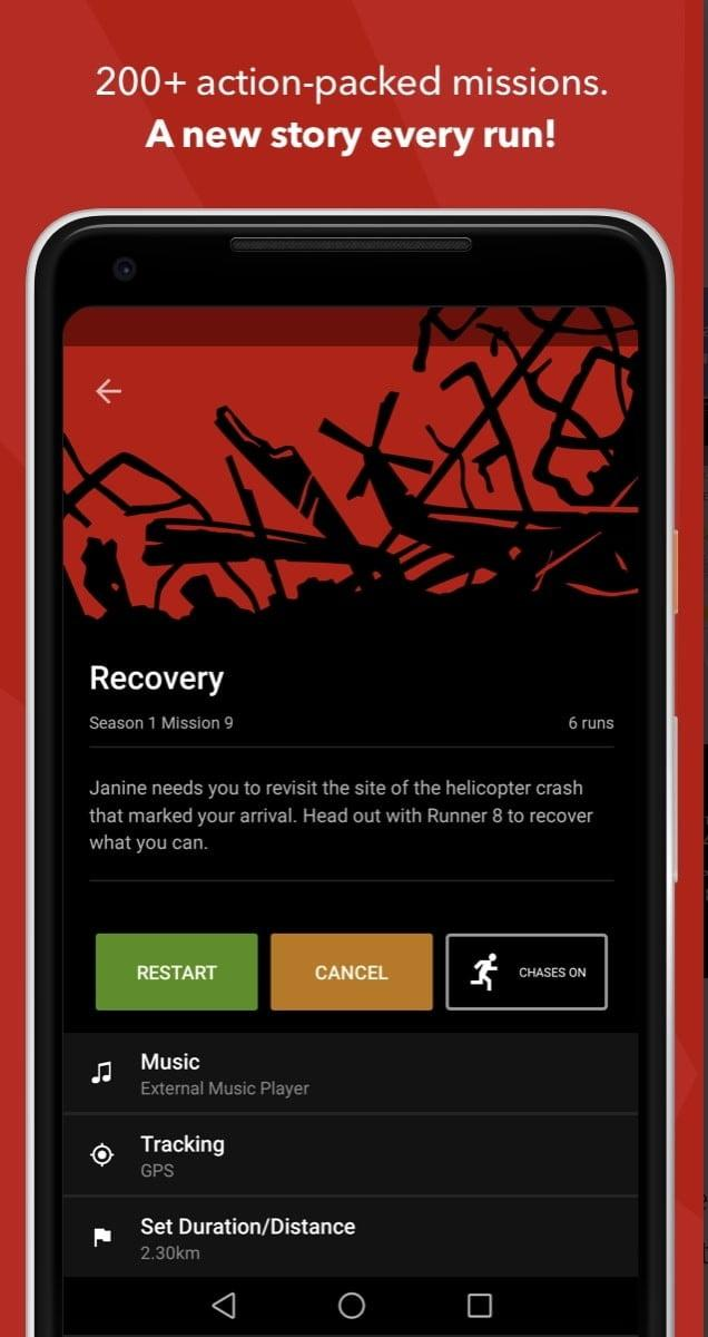 mejores apps android zombies run android1