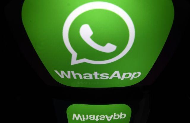 The logo of WhatsApp mobile messaging service