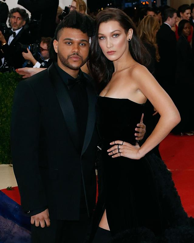The Weeknd and Bella Hadid attend the 2016 Met Gala. (Photo: Getty Images)