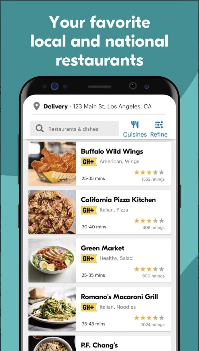 mejores apps android grubhub 2