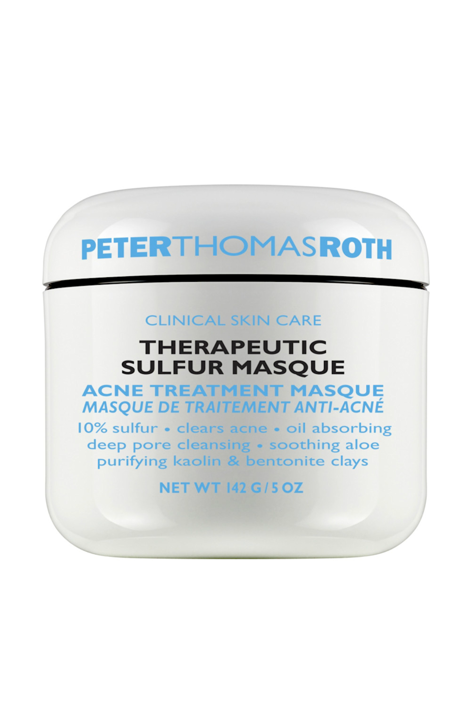 "<p><strong>Peter Thomas Roth</strong></p><p>ulta.com</p><p><strong>$52.00</strong></p><p><a href=""https://go.redirectingat.com?id=74968X1596630&url=https%3A%2F%2Fwww.ulta.com%2Ftherapeutic-sulfur-acne-masque%3FproductId%3DxlsImpprod11271053&sref=https%3A%2F%2Fwww.cosmopolitan.com%2Fstyle-beauty%2Fbeauty%2Fg36176731%2Fbest-clay-face-masks%2F"" rel=""nofollow noopener"" target=""_blank"" data-ylk=""slk:Shop Now"" class=""link rapid-noclick-resp"">Shop Now</a></p><p>FYI: Sulfur is actually a pretty genius ingredient for treating breakouts—it's a natural exfoliant that <strong>helps prevent clogged pores while also keeping your skin nice and smooth</strong>. And when combined with oil-absorbing clays and hydrating aloe vera, it becomes a super-impressive face mask (and, tbh, <a href=""https://www.cosmopolitan.com/style-beauty/beauty/g19645915/best-acne-spot-treatments/"" rel=""nofollow noopener"" target=""_blank"" data-ylk=""slk:spot treatment"" class=""link rapid-noclick-resp"">spot treatment</a>).</p>"