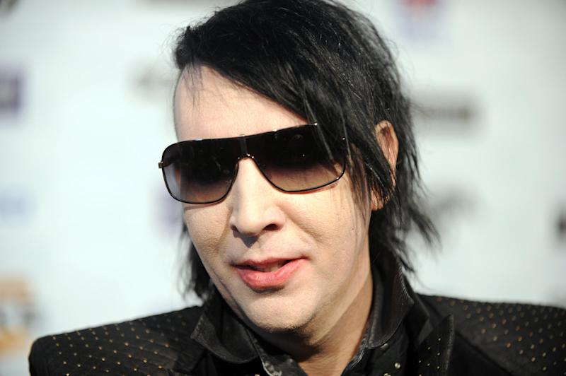 This October 16, 2010 photo shows musician Marilyn Manson in Los Angeles, California (AFP Photo/Gabriel Bouys)