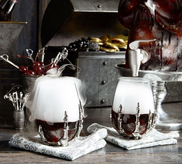 <p>This <span>Skeleton Hand Stemless Wine Glass</span> ($25) will be a hit!</p>
