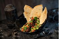 <p>Docking Bay 7 is exactly how it looks in the movie. Within Hollywood Studios, you'll feel like you're grabbing some grub in the middle of outer space. The Felucian Kefta and Hummus Garden Spread is as healthy as it sounds with tomato-cucumber relish and plant-based meatballs topped with pita. </p>