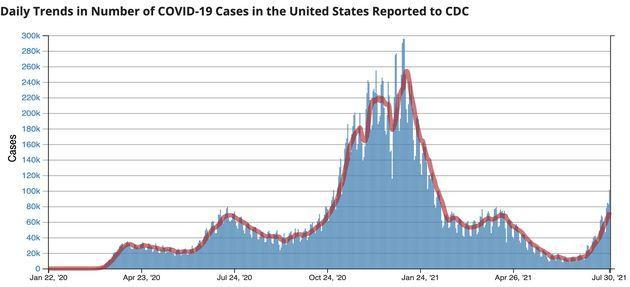 Coronavirus cases have been rising in the U.S. since June. (Photo: CDC.gov)