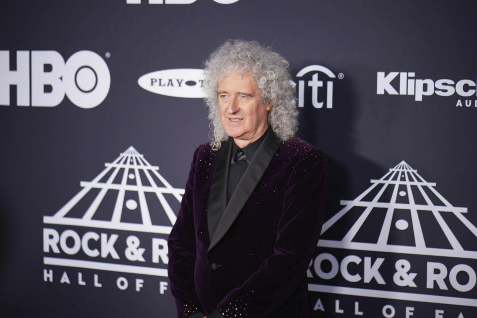 May 26th 2020 - Brian May - guitarist for Queen - is recovering in the hospital following surgery after suffering a heart attack. - File Photo by: zz/John Nacion/STAR MAX/IPx 2019 3/29/19 Brian May of Queen at the 2019 Rock And Roll Hall Of Fame Induction Ceremony held on March 29, 2019 at Barclays Center in Brooklyn, New York City. (NYC)