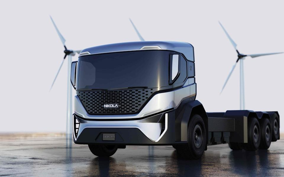 Nikola's first hydrogen-powered truck is due to go into production starting in 2023 - Nikola