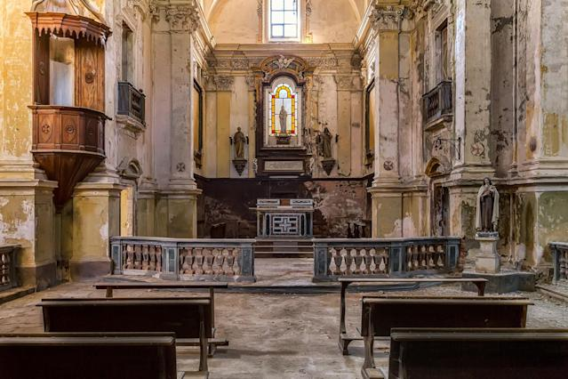<p>Large chapel in northern Italy. (Photo: James Kerwin/Caters News) </p>
