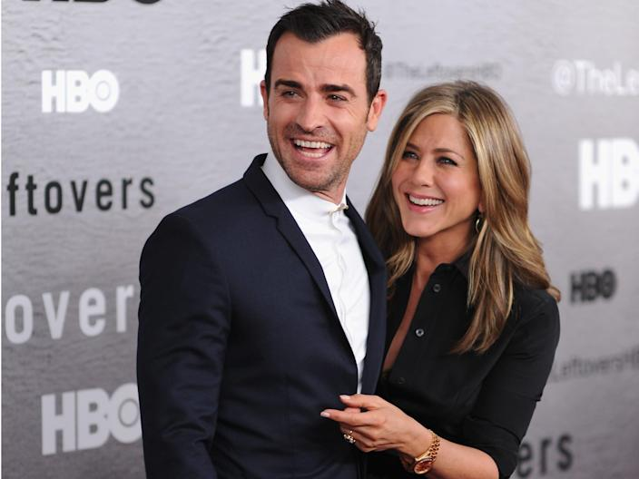 Jennifer Aniston Justin Theroux The Leftovers premiere 2014