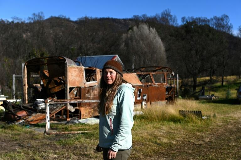 Anita Lawrence and five of her children have been living in a small tin shed since February