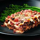 """<p>Here's an old-fashioned meat-and-cheese lasagna made lighter. Whole-wheat lasagna noodles taste great in this recipe, plus they help boost the fiber to 9 grams, which is more than a third of the recommended daily intake and especially good news for a healthy heart. <a href=""""https://www.eatingwell.com/recipe/252746/classic-lasagna/"""" rel=""""nofollow noopener"""" target=""""_blank"""" data-ylk=""""slk:View Recipe"""" class=""""link rapid-noclick-resp"""">View Recipe</a></p>"""
