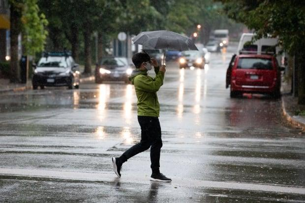 A rainstorm hits Vancouver, B.C. on Friday, September 17, 2021.  (Maggie MacPherson/CBC - image credit)