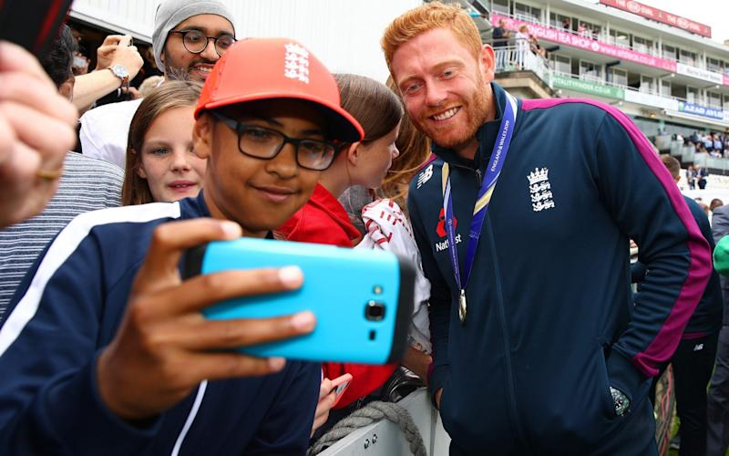 Next generation: Telegraph Sport columnist Jonny Bairstow hangs out with the players of the future - Getty Images Europe