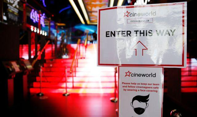 Cineworld 'to close all cinemas in the UK and Ireland this week'
