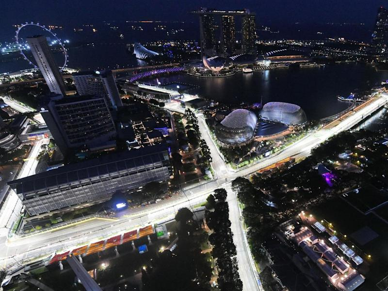 The Singapore Grand Prix is one of three races to have been cancelled this week: AFP via Getty Images