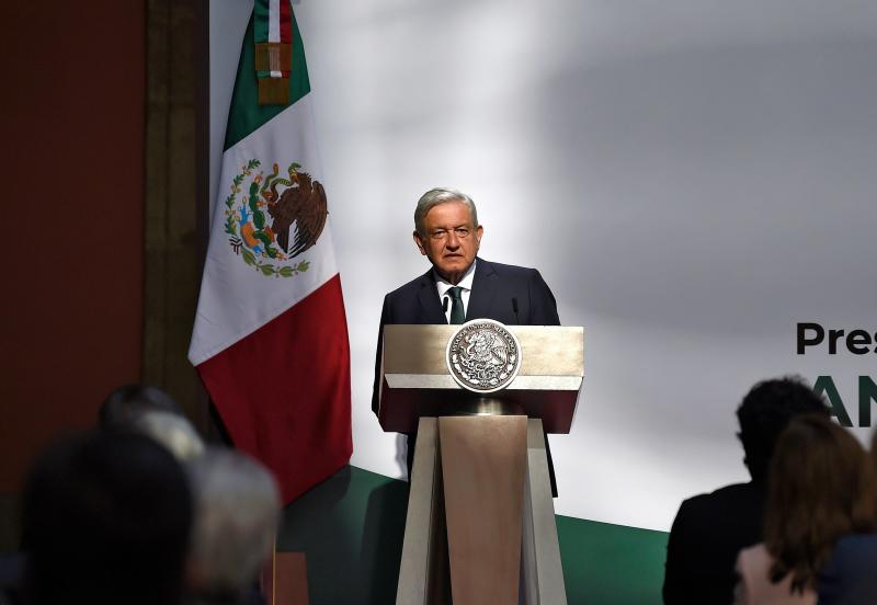 Mexican President Andres Manuel Lopez Obrador speaks during the presentation of the second annual report of his government at the National Palace in Mexico City on September 1, 2020. (Photo by ALFREDO ESTRELLA / AFP) (Photo by ALFREDO ESTRELLA/AFP via Getty Images)