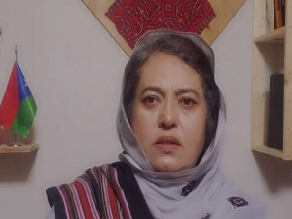 Baloch People's Congress Chairperson Naela Quadri Baloch speaking in a video message.