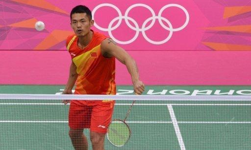 """China's Lin Dan during a badminton training session at the Wembley Arena in London on July 26. """"We are long-time competitors, but our biggest enemy is not each other, but injury,"""" Lin said of his long-term adversary Lee Chong Wei"""