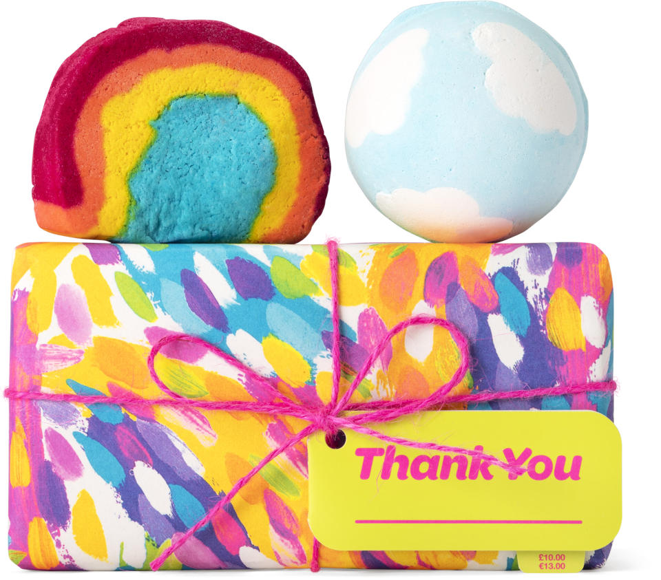 pair of bath bombs from lush for mothers day australia