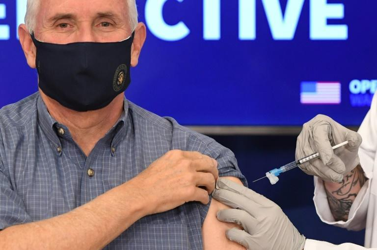 'I didn't feel a thing,' US Vice President Mike Pence said after getting a coronavirus shot